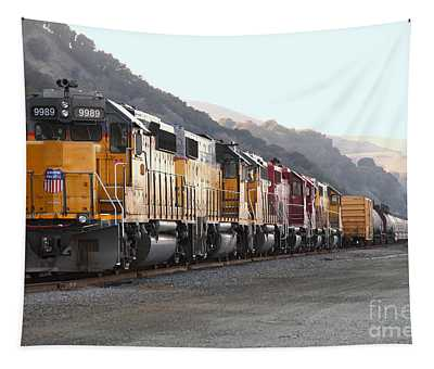 Union Pacific Locomotive Trains . 7d10563 Tapestry