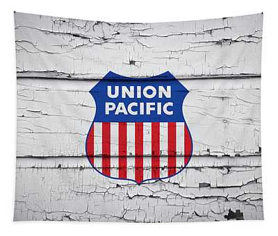 Union Pacific R R Boxcar Logo Tapestry