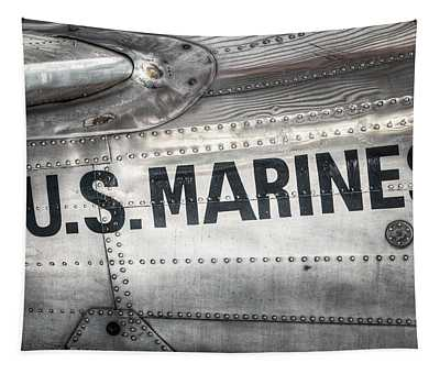 United States Marines - Beech C-45h Expeditor Tapestry