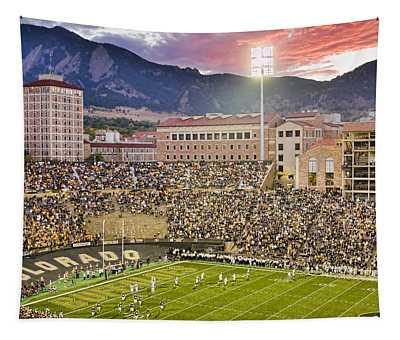 University Of Colorado Boulder Go Buffs Tapestry
