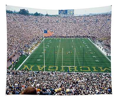 University Of Michigan Football Game Tapestry