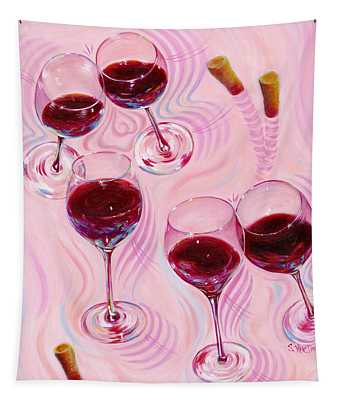Tapestry featuring the painting Uplifting Spirits  by Sandi Whetzel
