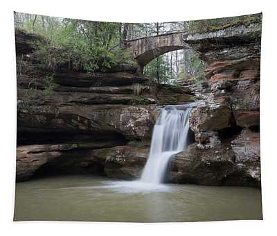 Upper Falls At Old Mans Cave II Tapestry