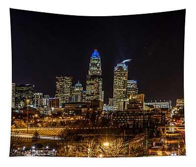 Uptown Charlotte Panorama Tapestry