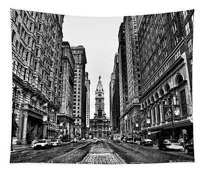 Urban Canyon - Philadelphia City Hall Tapestry