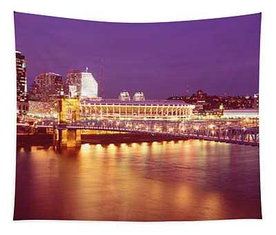 Usa, Ohio, Cincinnati, Night Tapestry