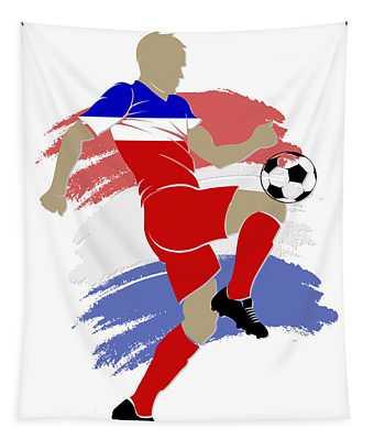 Usa Soccer Player Tapestry