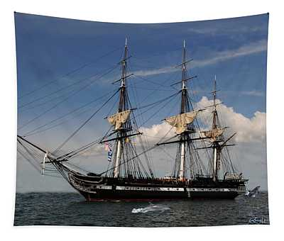 Uss Constitution - Featured In Comfortable Art Group Tapestry