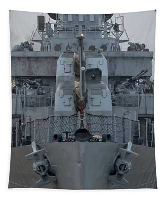 Uss Kidd Dd 661 Front View Tapestry