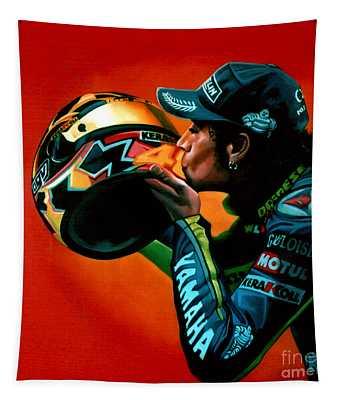 Valentino Rossi Portrait Tapestry