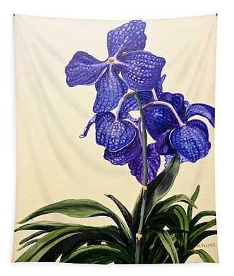 Vanda Sausai Blue Orchid Tapestry