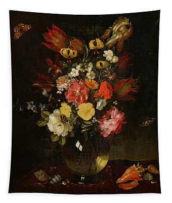 Vase And Flowers, 1655 Tapestry
