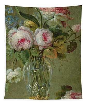 Vase Of Flowers On A Table Tapestry