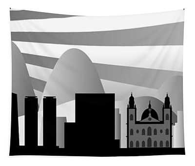 vector Rio skyline with ball Tapestry