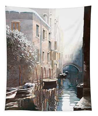 Venezia Sotto La Neve Tapestry