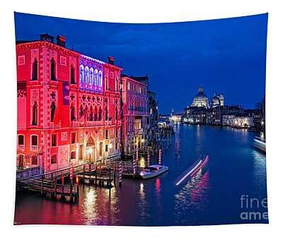 Venice By Night Tapestry