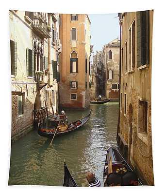 Venice Gondolas Tapestry