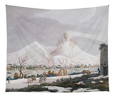 Vesuvius In Snow, Plate V From Campi Tapestry