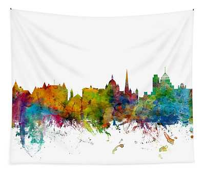 Victoria Canada Skyline Tapestry