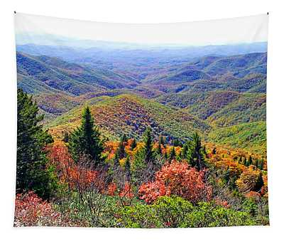 View From Devil's Courthouse Rock Tapestry