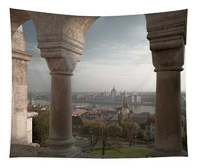 View From Fishermans Bastion Tapestry