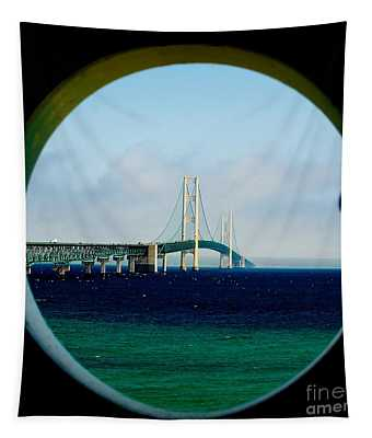 View From The Mackinac Light Tapestry
