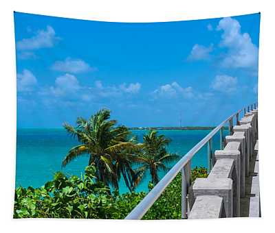 View From The Old Bahia Honda Bridge Tapestry