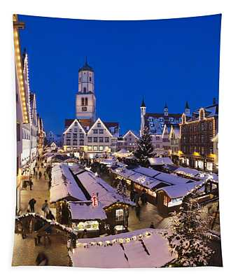 View Of Christmas Fair At St. Martins Tapestry