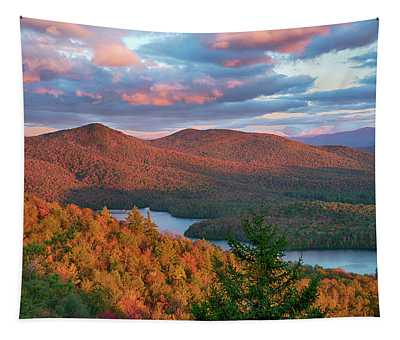 View Of Mckenzie Pond From Mount Baker Tapestry