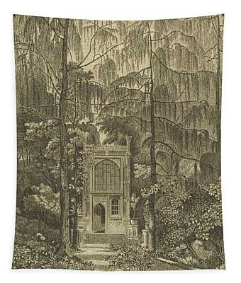View Of The Chapel In The Garden Tapestry