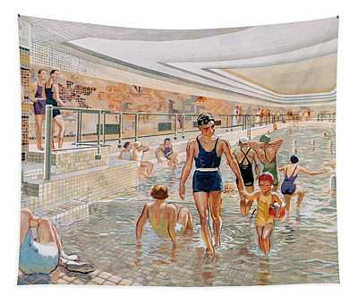 View Of The First Class Swimming Pool Tapestry