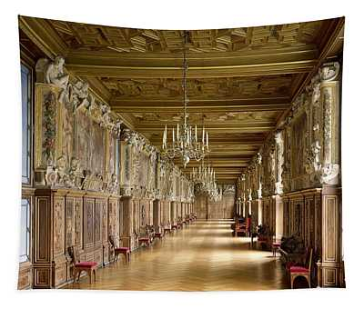 View Of The Galerie Francois I Tapestry