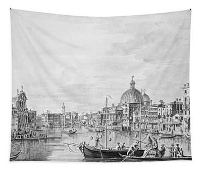 View Of The Grand Canal, Venice, C.1800 Pen & Ink Wash Tapestry