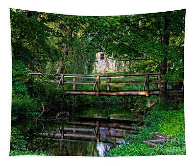 View Of The Grist Mill At Waterloo Village Tapestry