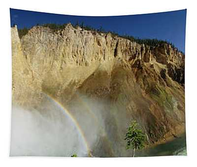 View Of The Lower Yellowstone Falls Tapestry