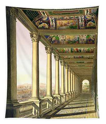 View Of The Third Floor Loggia Tapestry