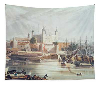 View Of The Tower Of London Tapestry