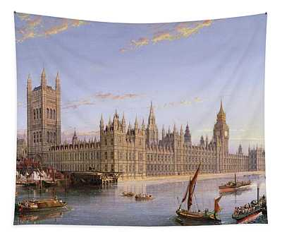 View Of Westminster From Lambeth, 1859 Tapestry
