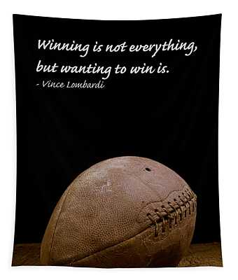 Vince Lombardi On Winning Tapestry