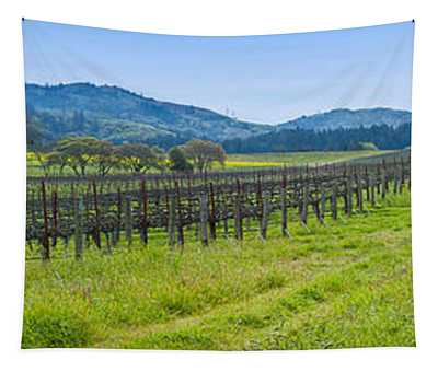 Vineyard In Sonoma Valley, California Tapestry