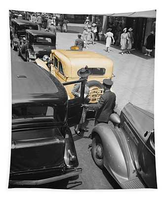 Vintage Checker Cabs Tapestry