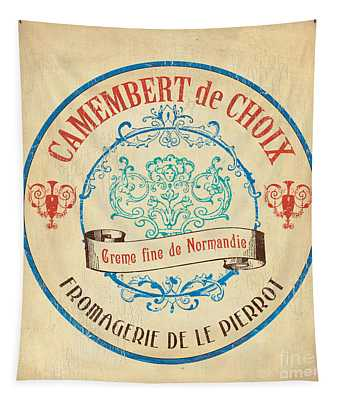 Vintage Cheese Label 4 Tapestry
