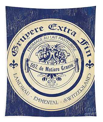 Vintage Cheese Label 5 Tapestry
