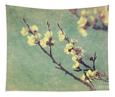 Vintage Cherry Blossom Tapestry