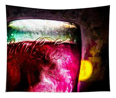 Vintage Coca Cola Glass With Ice Tapestry