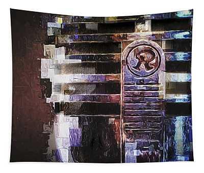 Vintage Microphone Painted Tapestry