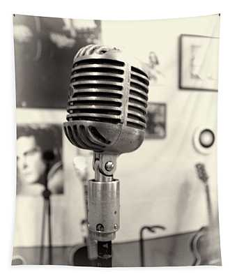 Vintage Microphone Sun Studio Tapestry
