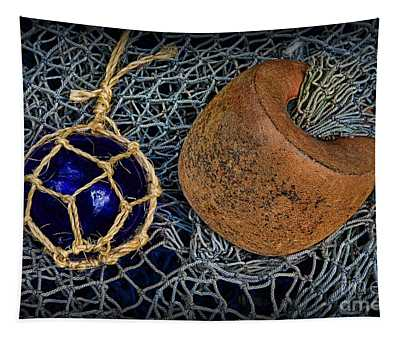 Vintage Net Floats Tapestry