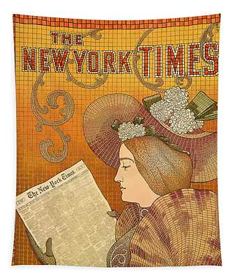 Vintage New York Times Advertisement 1895  Tapestry