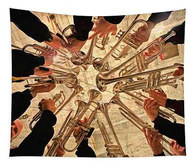 Vintage Night Of Music Tapestry